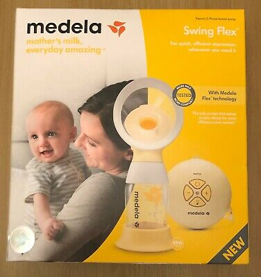Medela Swing Flex Breast Pump With Free Breast Pads And Travel