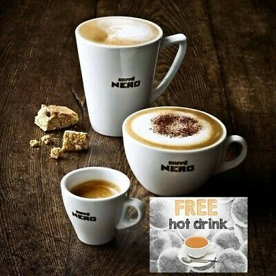 £5 worth Free Cafe Nero Coffee Hot Drink Winter Voucher Coupon Gift Card