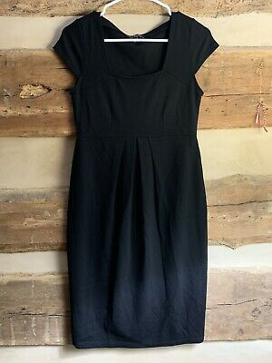 Isabella Oliver Size 2 Black Cap Sleeve Knee Length Maternity Dress