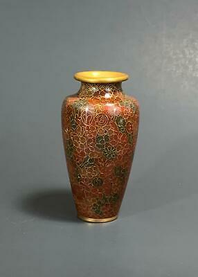 Finely Wired Small Japanese Antique Cloisonne Vase