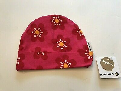 MAXOMORRA Baby Hat Pink Floral Girls NWT Organic Spring 95% Cotton NEW flowers