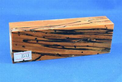 Stabilized Spalted Sassafras - Knife Scales Handle Block Pen(#1511)