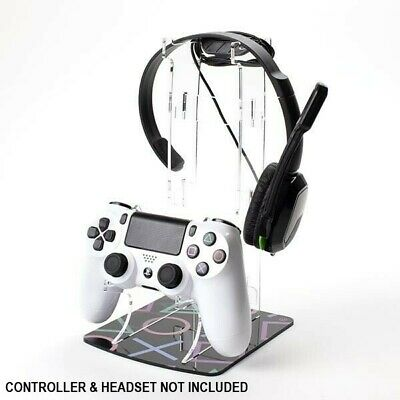 PlayStation Buttons Printed Acrylic PS4 Controller and Headset Stand - Dual