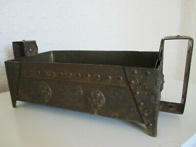 Unusual Antique Gilt Metal Arts and Crafts Planter with Japanese Inspiration