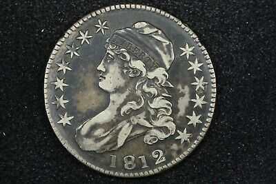 1812 Capped Bust Half Dollar, O-110 R1, Choice VF