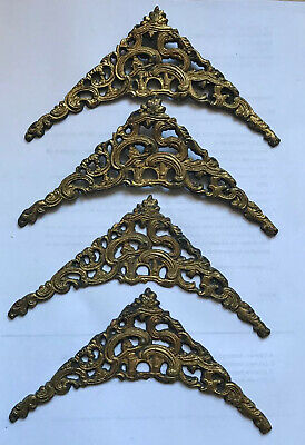 Antique Set of 4 brass spandrels for Brass Dial Longcase Clock