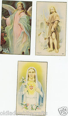 Vintage Catholic Holy Bible Prayer Cards  Lot Of 3  Prayers Jesus  Made in USA