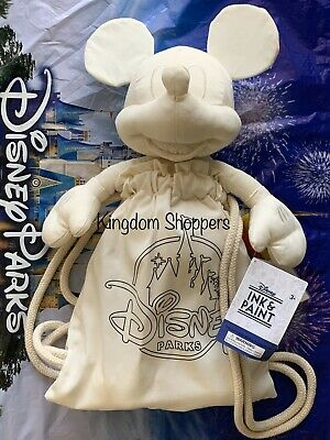 2020 Disney Parks Ink & Paint Series Mickey Mouse Plush Canvas Bag New Color It!