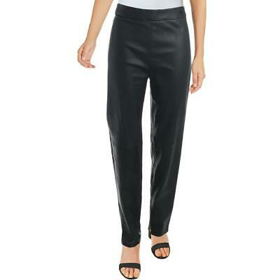 Elie Tahari Womens Roxanna Black Leather Ankle Legging Skinny Pants L BHFO 0157