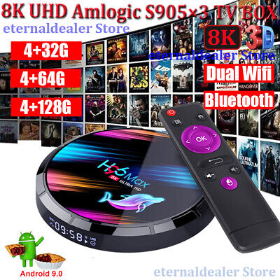 2020 H96 MAX 8K Android 9.0 Dual WIFI BT 32/64/128G TV BOX HDMI Amlogic S905X3