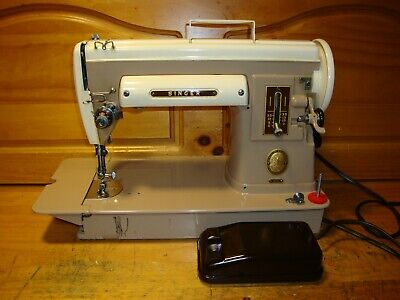Vintage Singer Sewing Machine Model 301A Slant Needle, Gear Driven ,  Serviced
