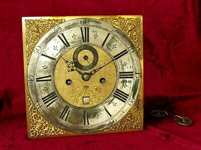 Quality 8 Day 12in Grandfather/Longcase Clock Movement & Dial