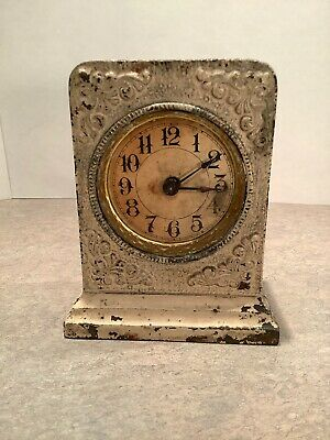"Antique Early 1900's ""Ironclad"" Alarm Mantel-Shelf Clock By Western Clock Mfg Co"