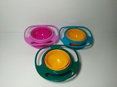 Useful 360 Degree Rotating Gyro-Bowl Children No Spill Bowl Baby Balance w/ Lid