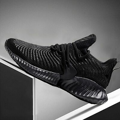 Adidas Men's Alphabounce + Run Performance Athletic Shoes G28584 Black Size 11