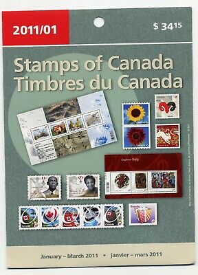 Weeda Canada 2011 January-March Quarterly Pack, sealed! Face value $41.08