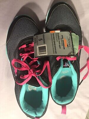 Avia Diversion Youth Girls Black/Turq. Athletic Shoes, Size 5