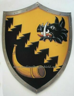 Hanging Medieval heater shield, coat of arms Knight Armor Templar shield F19