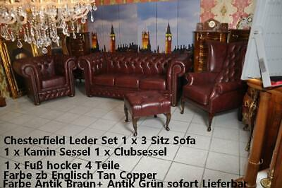 Chesterfield King  Set 4 Teile in 3 Farben lieferbar sofort