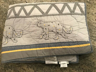 Pottery Barn Kids Elliot Embroidered Animals Crib Toddler Quilt NEW No Tags