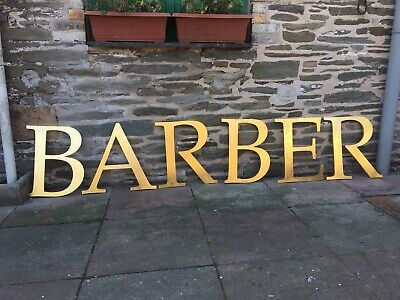barbers sign 24ct gold leaf internal external