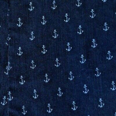 Alfred Dunner Women Capri Pants Blue Nautical Anchors, Stretch, Pockets, Size12
