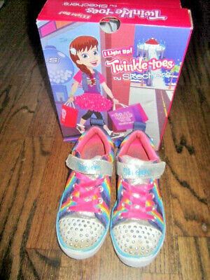 SKECHERS Twinkle Toes Magical Rainbows Unicorn/Mermaid Size 13 Lights Up w/ Box