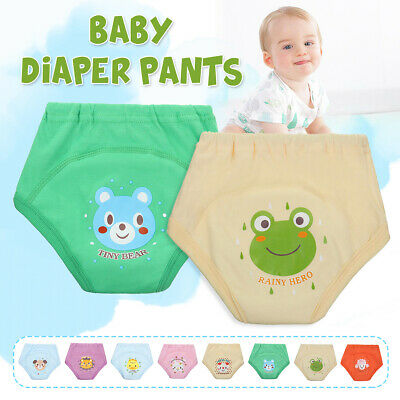 Infant Baby Pants Underwear Washable Reusable Training Nappy Pants Cloth