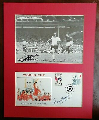 Sir Geoff Hurst And Martin Peters Signed Photograph & Cover Display.