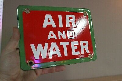 Scarce Sinclair Gasoline Air And Water Station  Porcelain Metal Sign Gas Oil
