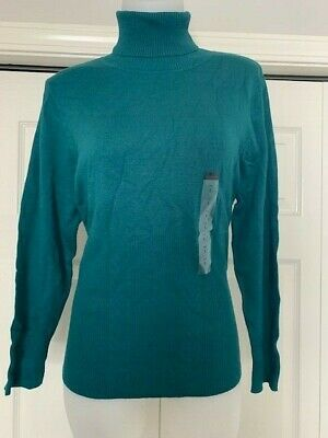 NWT $39.50 Petite Sophisticate Turtleneck Sweater L and XL various colors TN1