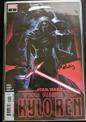 STAR WARS THE RISE OF KYLO REN #1 Comic 1st PRINT SIGNED BY WILL SLINEY RARE!!