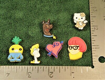 Croc Charms Lot of 6 Scooby Doo Shaggy Hello Kitty and More FREE SHIPPING