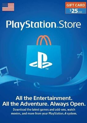 PlayStation Network Card 25 USD US PSN CD Key - FAST E-mail Verification