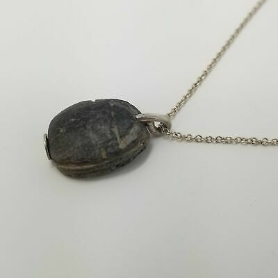 AUTHENTIC - Egyptian Black Scarab - Necklace