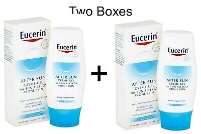 2 x Eucerin After Sun Creme-Gel For Sun Allergy Prone Skin Relief 150ml