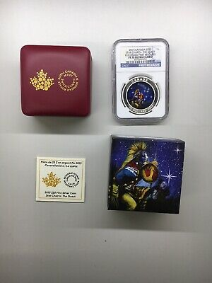 2015 CANADA SILVER STAR CHARTS THE QUEST - NGC PF70 FIRST RELEASES w/ COA + OGP