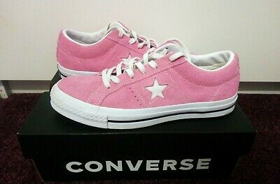 GENUINE CONVERSE ONE Star Trainers Size 10 Uk Mens Black