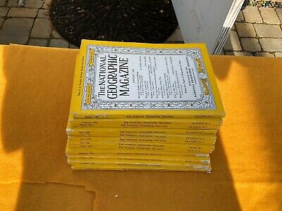 12 National Geographic magazines Lot 1946  Complete Year(12) Issues