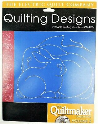 Quilting Designs CD-ROM Electric Quilt Company Printable Stencils Quiltmaker 2