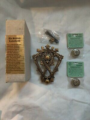 1985 Brass Door Knocker Luckenbooth symbol Celtic brassware everything included