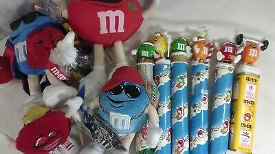 M & M Plush & Plastic Figures Lot Collectibles Set Valentines Christmas