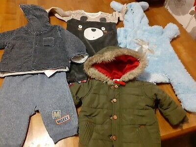 Bundle of baby boys clothing - various items - age 0-3 months
