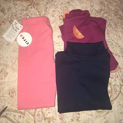 BRAND *NEW* w/tags 2 6T turtlenecks and 5T leggings. Christmas gifts!!!