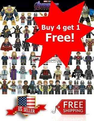 Avengers Minifigure Building Blocks End Game Iron Man Captain America Thor Hulk
