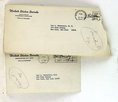 Two Signed TLS from Robert Kennedy on the Censure of Adam Clayton Powell