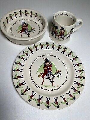 Anderton Pottery Duke of York Childrens Set Mug Bowl Plate Toy Soldiers