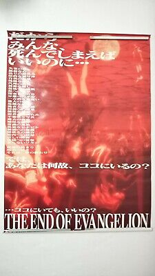 Neon Genesis The End of Evangelion Poster Movie version 2 sheets set Japan Anime