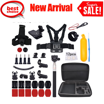 Action Camera Accessories Monopod Floating Bobber Head Wrist Chest Strap Mount