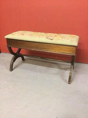 Antique Duet Style Piano Stool Sn-p